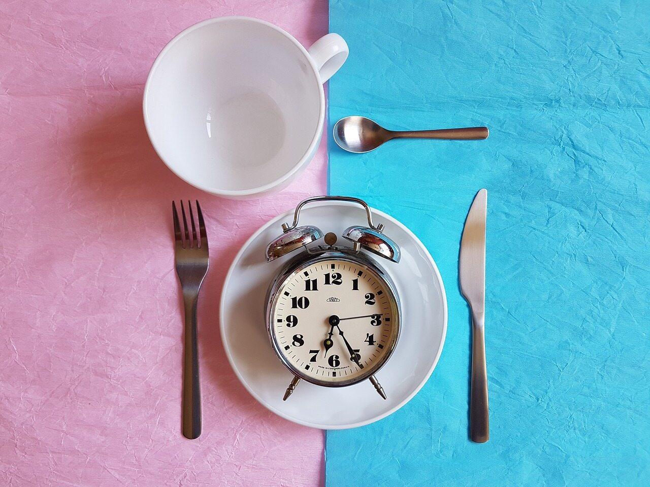 Zegar na talerzu