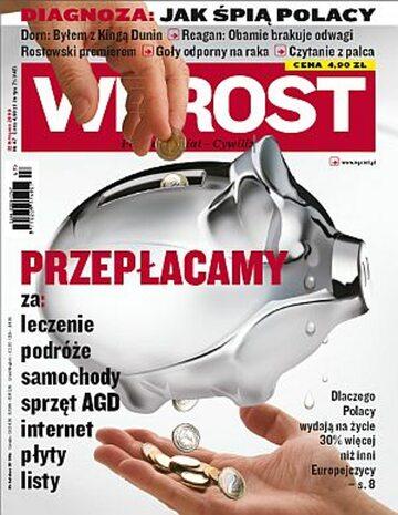 Okładka tygodnika Wprost nr 47/2009 (1400)