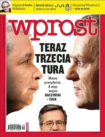 Okładka tygodnika Wprost nr 28/2010 (1431)