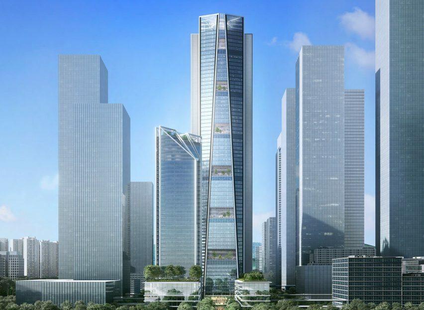 Siedziba China Merchants Bank w Shenzhen