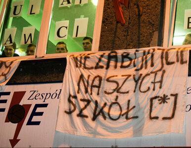"""Uczniowie okupują technikum w Bytomiu. """"Chcemy walczyć"""""""