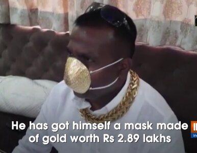 """Indie: Biznesmen wydał 4 tys. dolarów na maseczkę ze złota. """"Nie wiem,..."""