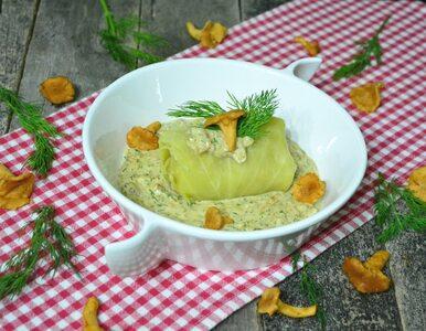 Gołąbki w sosie kurkowo-koperkowym