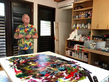 Anthony Hopkins maluje obrazy. Zobaczcie dzieła stworzone przez aktora