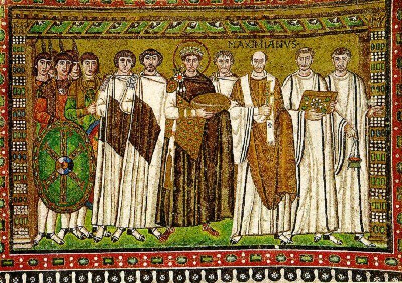Mozaika przedstawiająca Justyniana Wielkiego