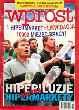 Okładka tygodnika Wprost nr 50/2001 (994)