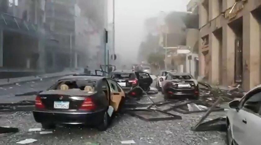 Apokaliptyczny krajobraz po eksplozji w Bejtucie